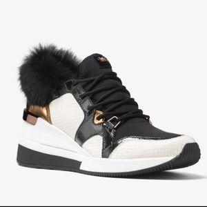 MICHAEL KORS Scout Fur Mixed-media Sneaker